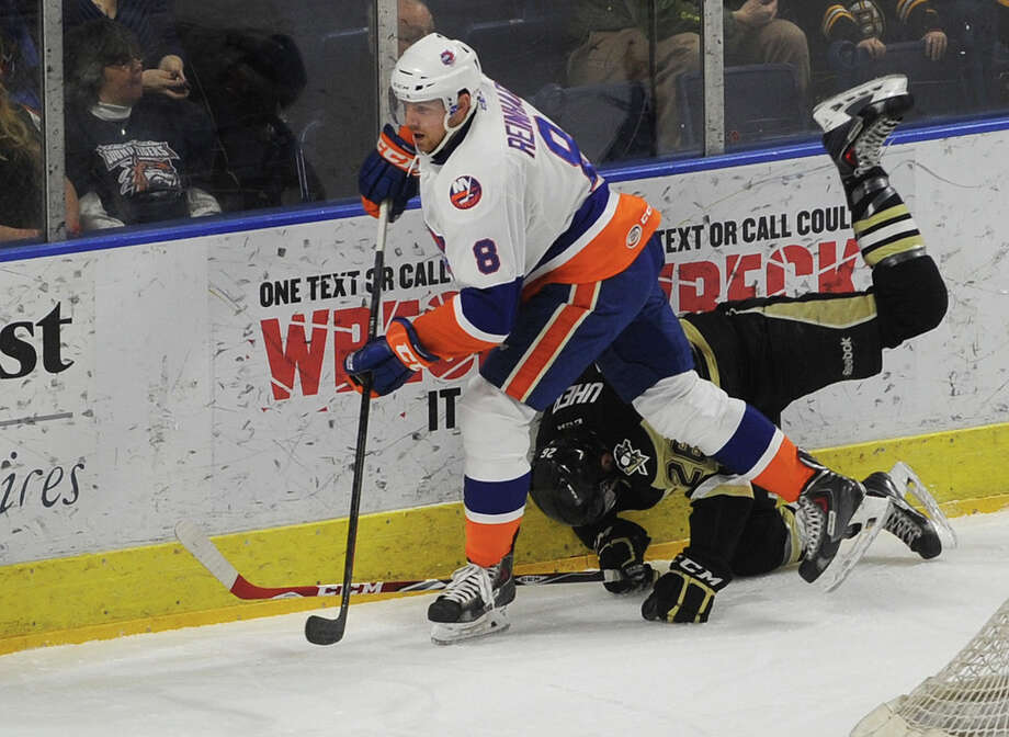 Griffin Reinhart. Bridgeport Sound Tigers hockey v. Scranton/Wilkes-Barre Penguins at the Webster Bank Arena in Bridgeport, Conn. on Sunday, February 8, 2015. Photo: Brian A. Pounds / Connecticut Post