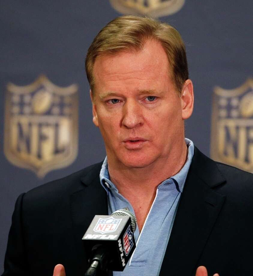 NFL Commissioner Roger Goodell answers a question. Photo: Ross D. Franklin / Associated Press / AP