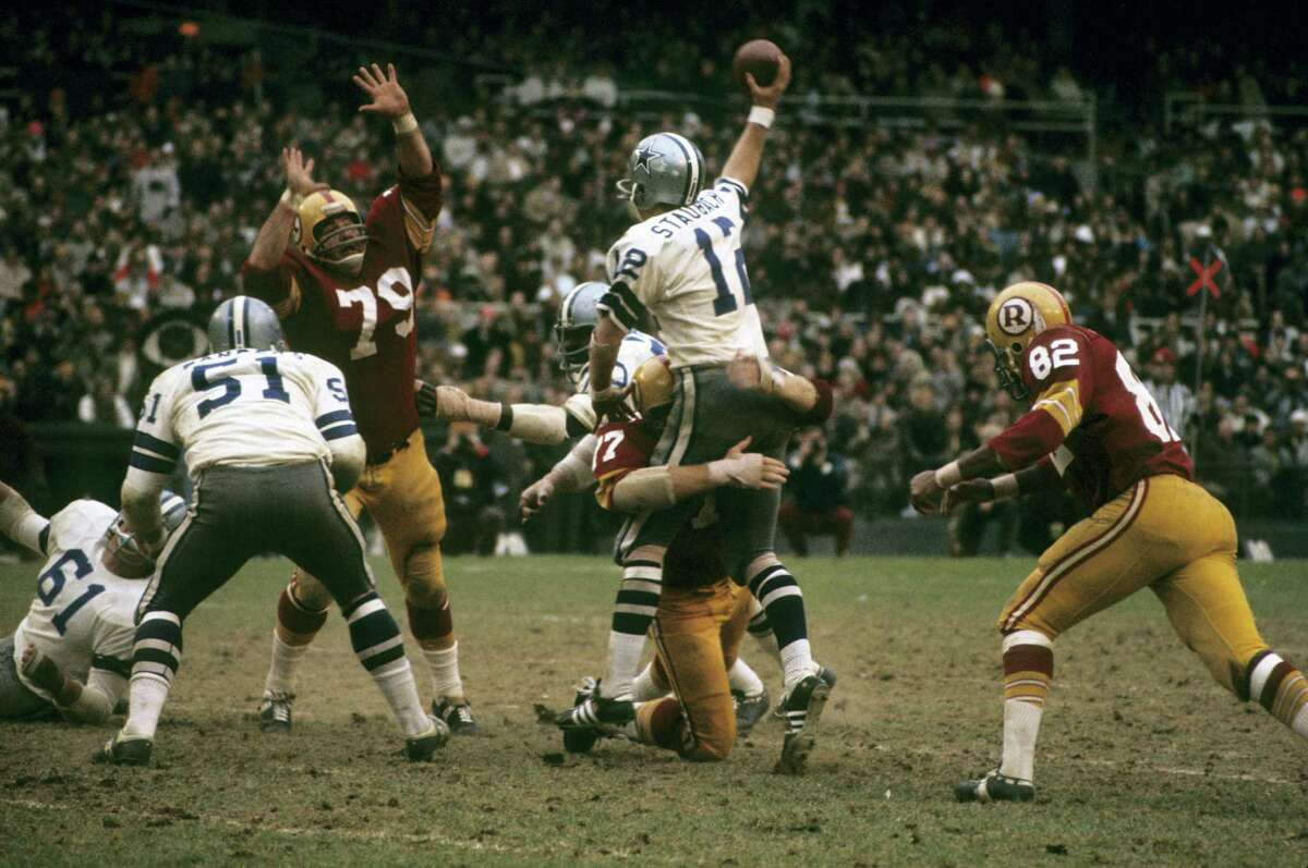 Nov. 28, 1974 Cowboys 27, Redskins 24, Texas Stadium When Roger Staubach left the game because of an injury, Clint Longley - the Mad Bomber -- replaced him. The Cowboys trailed 16-3. Longley threw two long touchdown passes to rally the Cowboys to a 27-24 victory over their bitter rival.