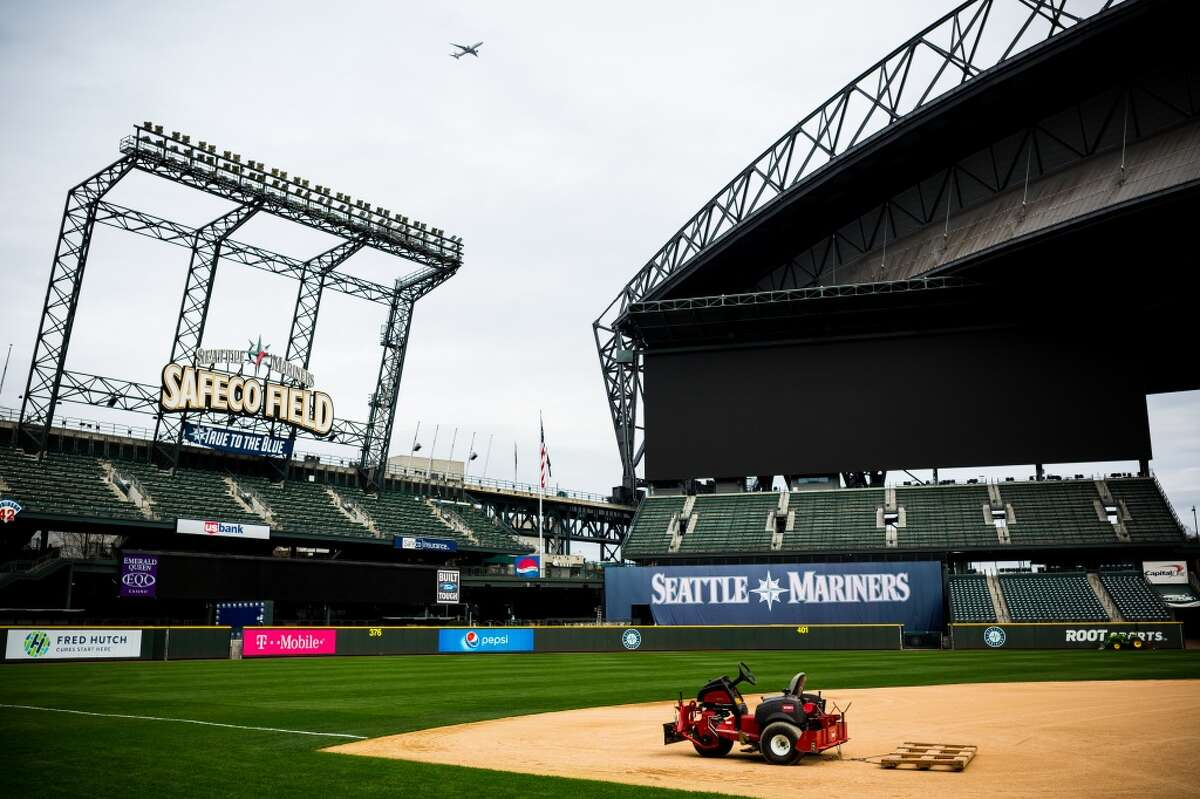 Safeco Field is prepped for the upcoming Seattle Mariners baseball season, photographed Thursday, March 19, 2015, in Seattle, Washington. (Jordan Stead, seattlepi.com)