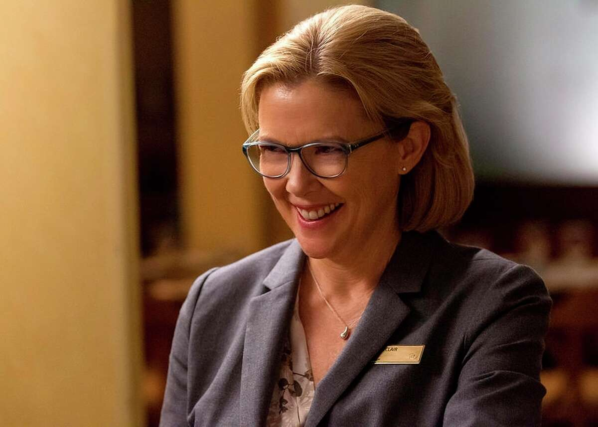 """In """"Danny Collins,"""" Annette Bening, above, is a hotel manager who becomes Danny's conscience. Left: Bobby Cannavale, Giselle Eisenberg and Jennifer Garner play Danny's family."""