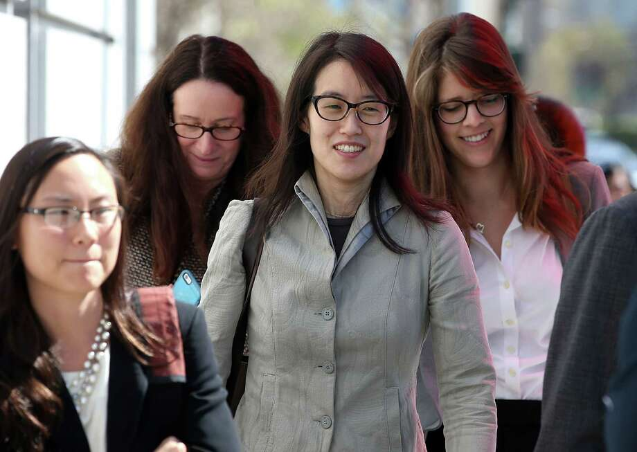 SAN FRANCISCO, CA - MARCH 25:  Ellen Pao (C) leaves the San Francisco Superior Court Civic Center Courthouse with her legal team during a lunch break from her trial on March 25, 2015 in San Francisco, California. Reddit interim CEO Ellen Pao is suing her former employer, Silicon Valley venture capital firm Kleiner Perkins Caulfield and Byers, for $16 million alleging she was sexually harassed by male officials.  (Photo by Justin Sullivan/Getty Images) Photo: Justin Sullivan / Getty Images / 2015 Getty Images