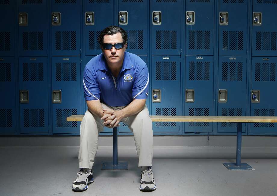 Junipero Serra High School football head coach Patrick Walsh pictured inside the school's locker rooms, Wednesday, March 25, 2015, in San Mateo, Calif. Photo: Santiago Mejia, The Chronicle