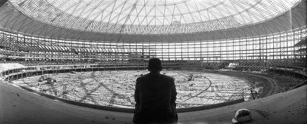 Astronaut Alan Shepard inside the Astrodome, 1964. Photo: Dome76 / Houston Chronicle