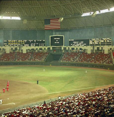 Astrodome interior, circa 1965 Photo: Houston Post / Houston Chronicle
