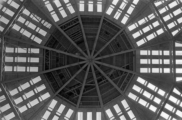 Astrodome ceiling, 1965. Photo: Houston Post / Houston Chronicle