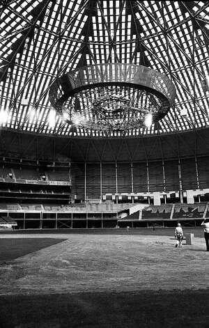 Astrodome gondola, 1965. Photo: Houston Post / Houston Chronicle