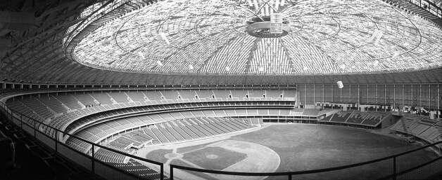 Astrodome interior, 1965 Photo: Houston Post / Houston Chronicle