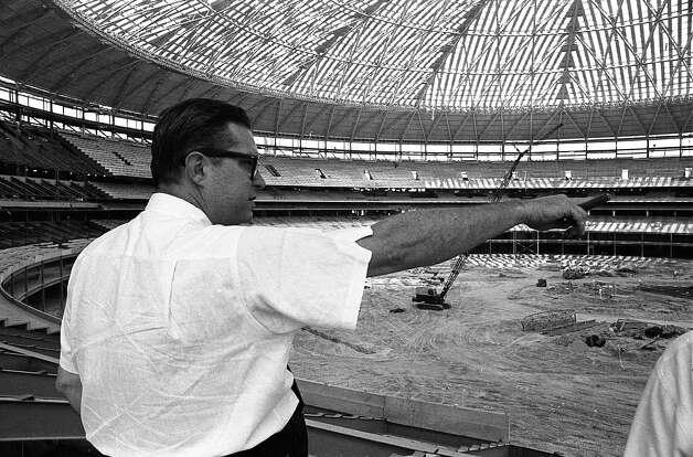 Roy Hofheinz inside the Astrodome, 1964 Photo: Houston Post / Houston Chronicle