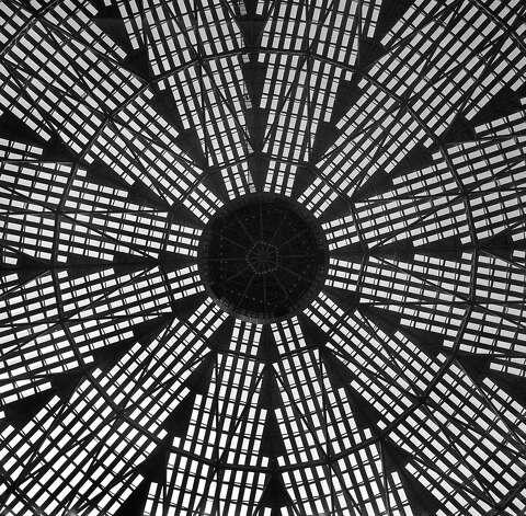 Astrodome ceiling, circa 1965. Photo: Houston Post / Houston Chronicle