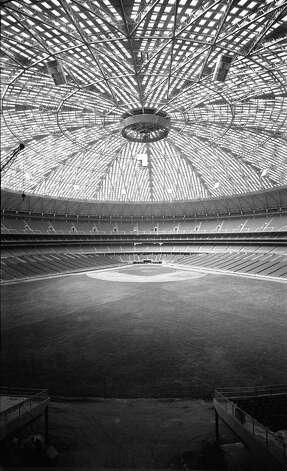 Astrodome interior, circa 1965. Photo: Houston Post / Houston Chronicle