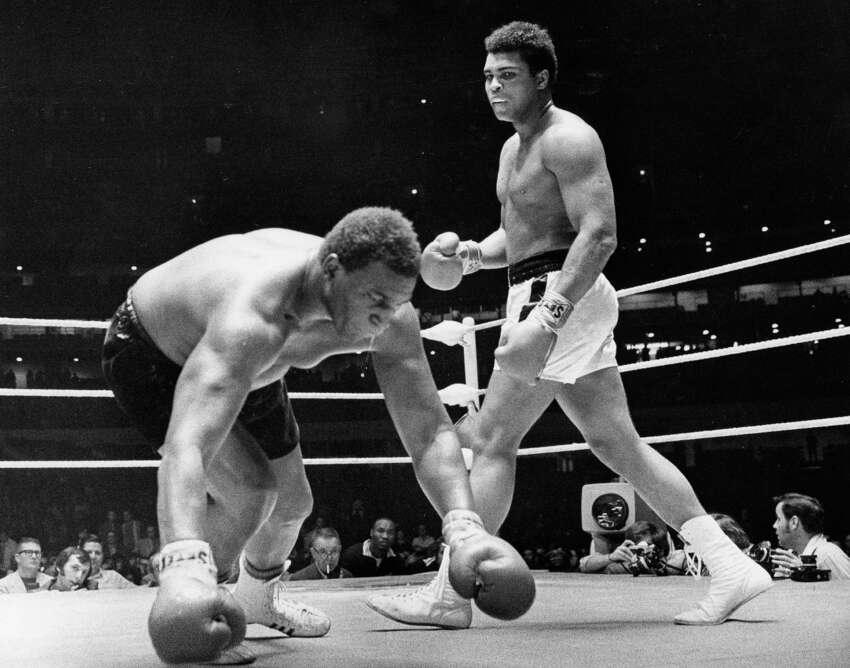 Muhammad Ali vs. Buster Mathis, Nov. 17, 1971, in the Astrodome. Ali would defeat Mathis by unanimous decision.
