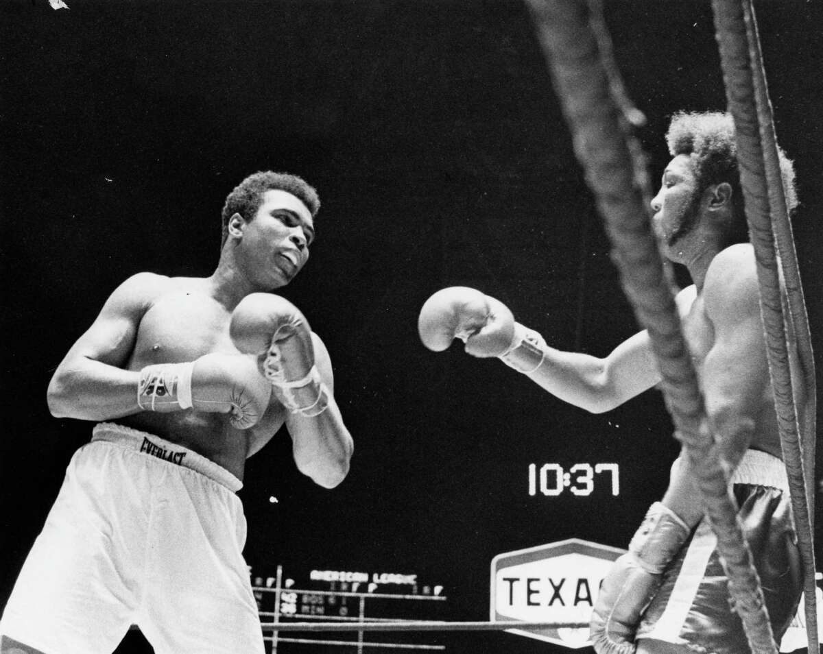 Muhammad Ali vs. Jimmy Ellis, July 26, 1971, in the Astrodome. Ali would win with a 12th round TKO.