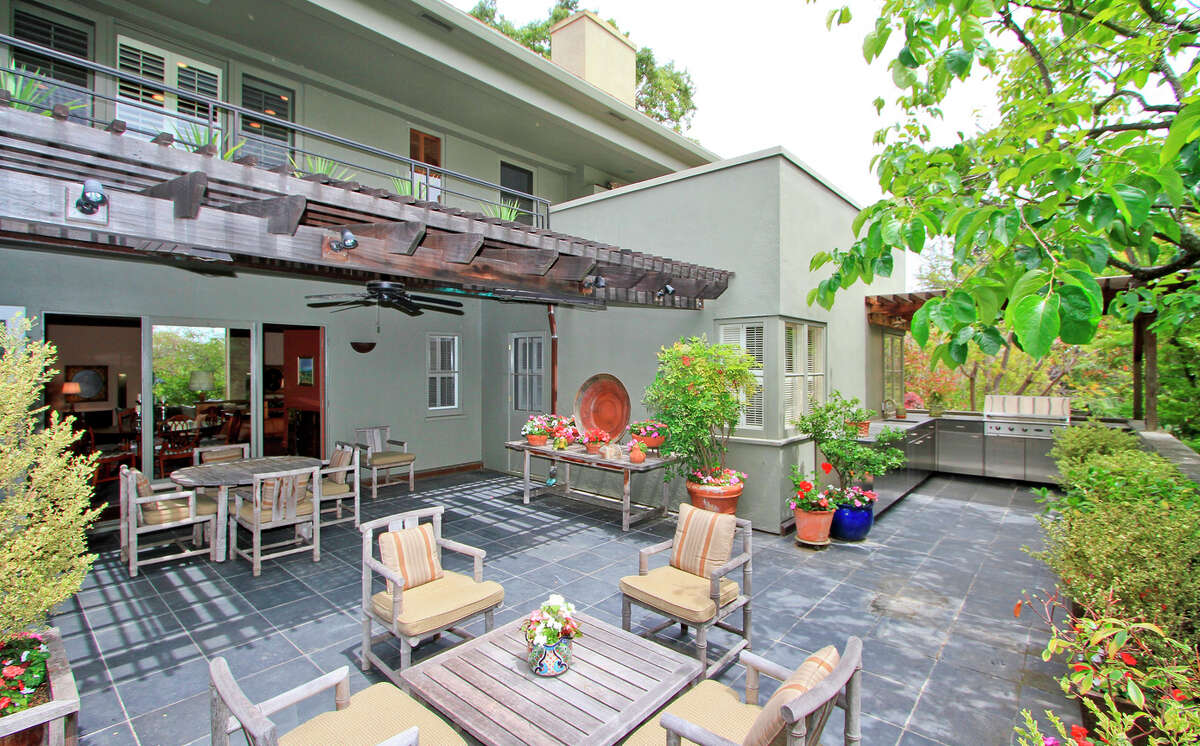 The spacious tile patio includes a built-in barbecue. Click here to see what else is on the market in Menlo Park.