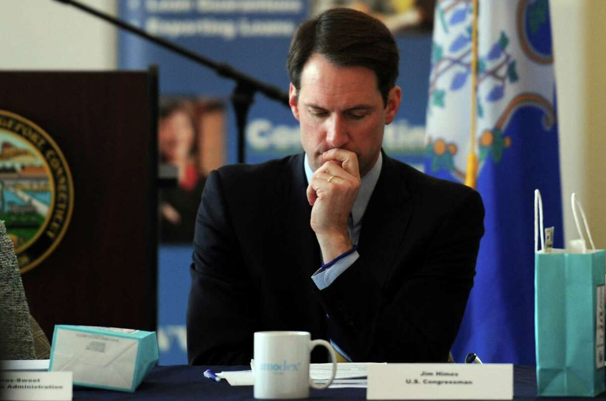 U.S. Rep. Jim Himes filed legislation in Congress that would create a new federal statute banning insider trading. Himes is pictured March 10 in Bridgeport, Conn.