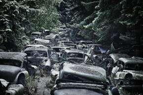 Upon arriving back home in Cologne, Klein began to do research on more automobile graveyards. His second trip was to a spot in a rural area of Belgium where around 250 cars had been parked for decades.  Read more: http://www.businessinsider.com/17-beautiful-pictures-of-automobile-graveyards-where-vintage-cars-are-being-reclaimed-by-nature-2015-3?op=1#ixzz3VVwuIgmI  Belgium- Ford, Chevrolet, Buick, and more