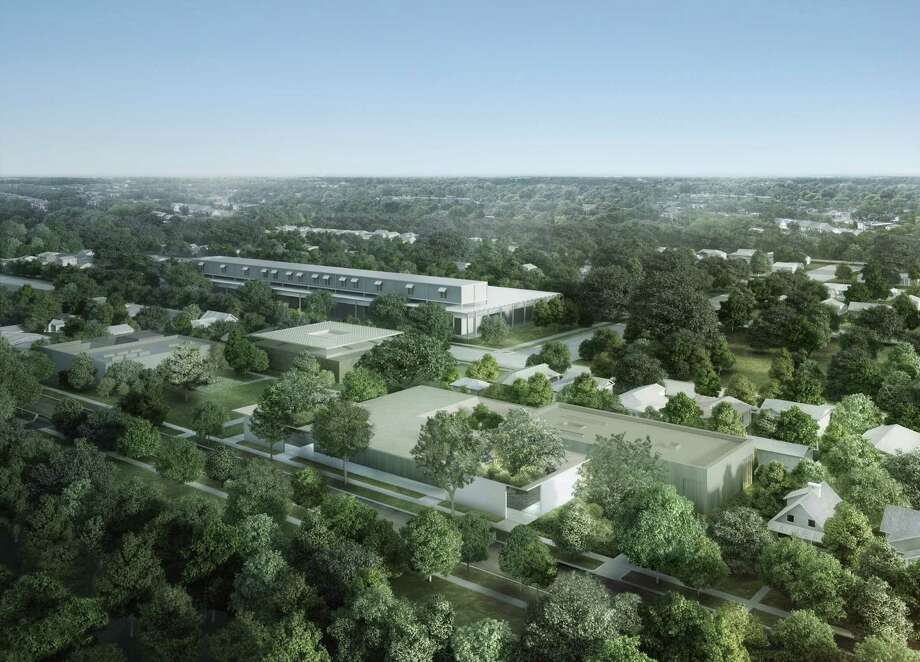 "This rendering shows an aerial view of the Menil Collection campus as it will look from the southeast. The City Council will consider a ""special parking area"" on Wednesday, aiming to allow the Menil Collection to complete an ambitious expansion plan without paving over green space to add parking lots that museum leaders and city officials say may not be needed. Photo: Johnston Marklee"