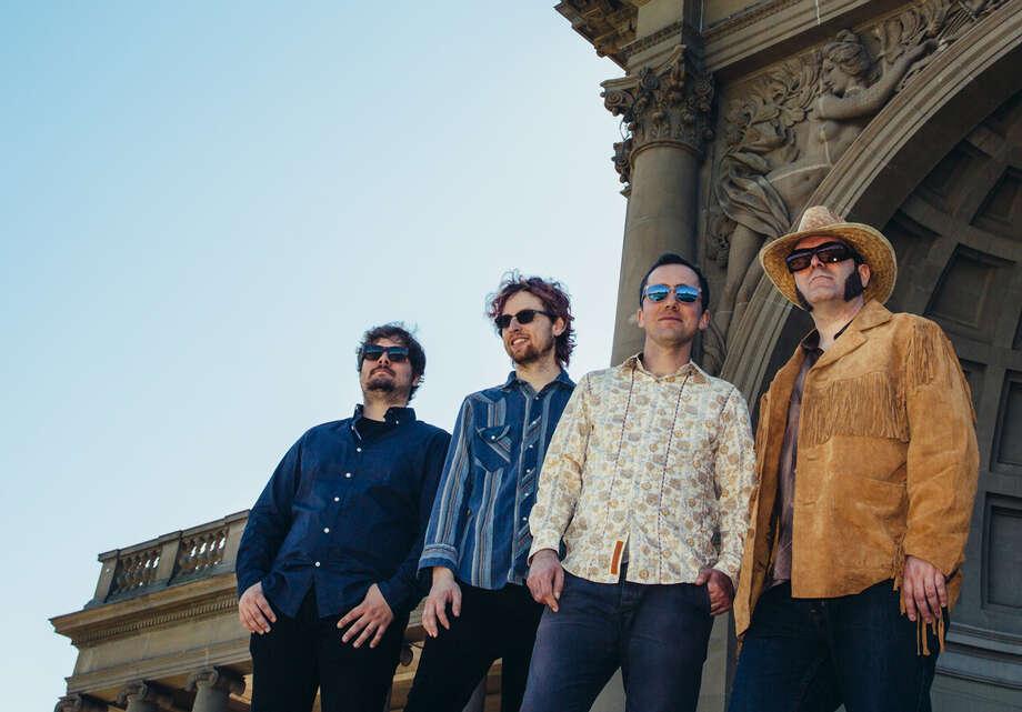 The Spiral Electric: Nicolas Percey (left), Tyler Allen, Tyler Weeks, Clay Andrews. Photo: Alison Webber / ONLINE_YES