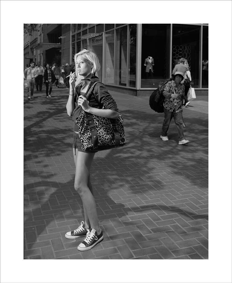 """Doug Hall's pigment print """"Here, on the Street, Perhaps Waiting for a friend"""" is at Rena Bransten Projects and is part of a show dealing with intimacy. Photo: Rena Bransten Projects / ONLINE_YES"""