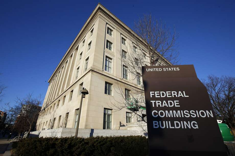 This Jan. 28, 2015 file photo shows the Federal Trade Commission (FTC) building in Washington. A group of prominent children's and consumer advocacy groups asked the FTC to investigate YouTube for deceptively targeting toddlers with advertisements. Photo: Alex Brandon, Associated Press