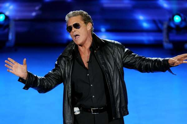David Hasselhoff performs onstage at FOX's 'American Idol XIV' Top 9 Revealed on March 25, 2015 in Hollywood, California. (Photo by FOX via Getty Images)