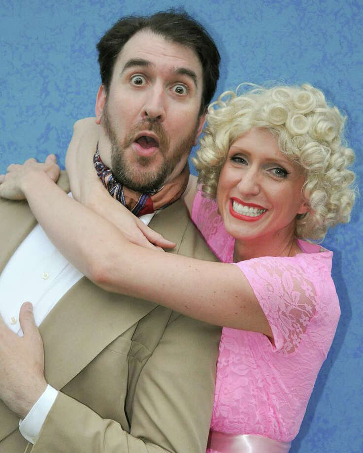 """Lord Evelyn Oakleigh (Michael Wright) is smitten with the chorus girl played by Amber Mason in """"Anything Goes,"""" the Cole Porter classic that was onstage last summer at Musicals at Richter in Danbury. Photo: Contributed Photo / Connecticut Post Contributed"""