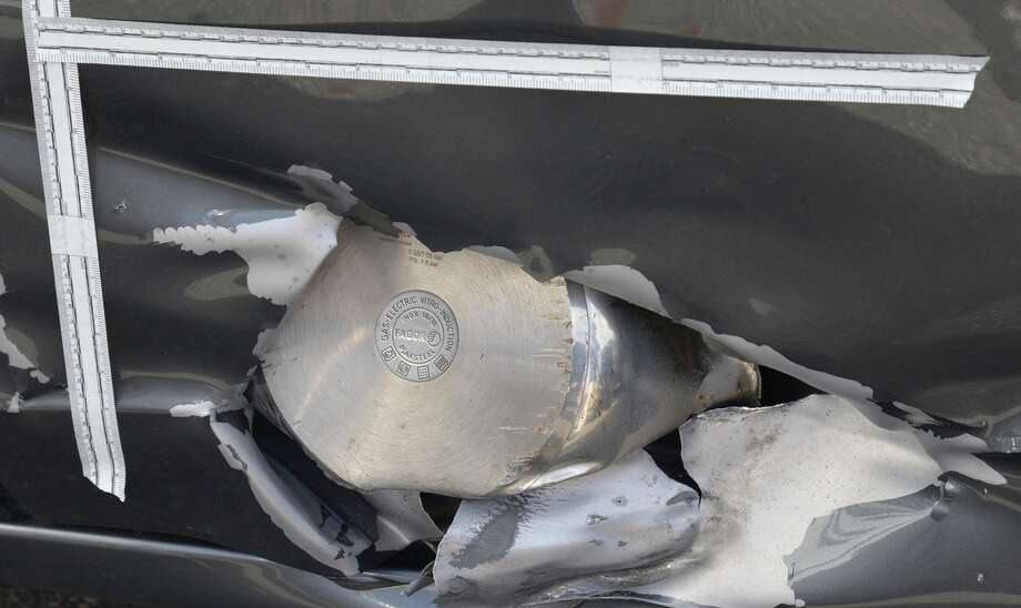 A photo presented as evidence shows part of a pressure cooker used as an explosive device. Photo: Associated Press / U.S. Attorney's Office