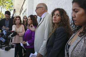 Daniel Russo, a lawyer for Aaron Quinn speaks during a press conference attempting to dispel Russo's involvement in the Kidnaping of his girlfriend Denise Huskin, held outside the Morton and Russo Law Office in Vallejo on March 26th 2015.