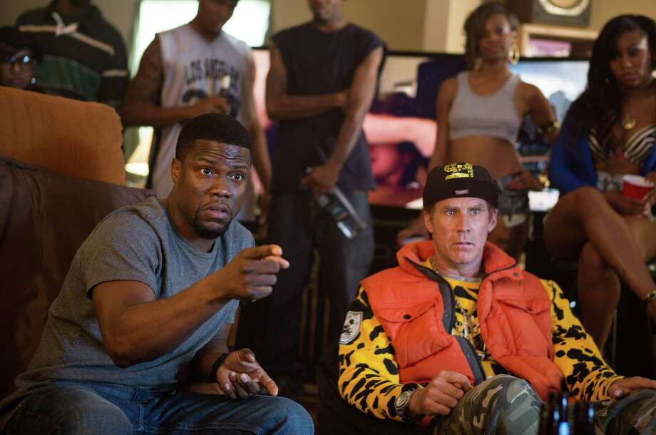 "In this image released by Warner Bros. Entertainment Inc., Kevin Hart, left, and Will Ferrell appear in a scene from ""Get Hard."" (AP Photo/Warner Bros. Entertainment Inc., Patti Perret) ORG XMIT: NYET127 Photo: Patti Perret / Warner Bros. Entertainment Inc."