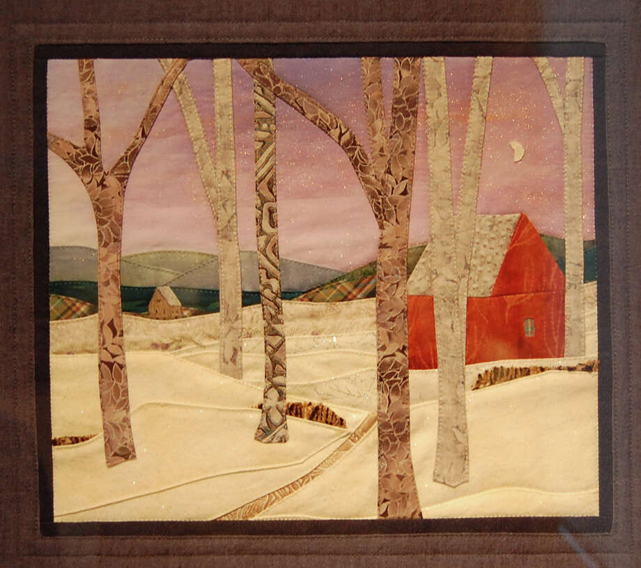 """Home at Vesper Light,"" by Ridgefield, Conn., fiber artist Angela Liptack is among the works on display at the 98th annual Juried Exhibition of the Greenwich Art Society. It runs through April 22. Photo: Contributed Photo / Stamford Advocate Contributed photo"