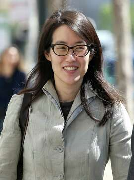 Ellen Pao leaves the San Francisco Superior Court Civic Center Courthouse on March 25, 2015 in San Francisco