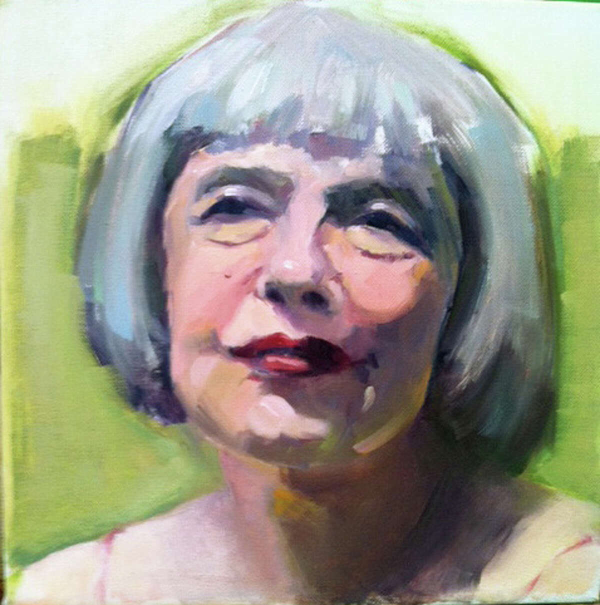 """City Light's """"Forever Young"""" exhibition runs April 9 through May 14, celebrating the energy of youth and the aging process, inspired by the Bob Dylan song of the same name. Above is Ellen Siegel's acrylic portrait study of an older woman."""