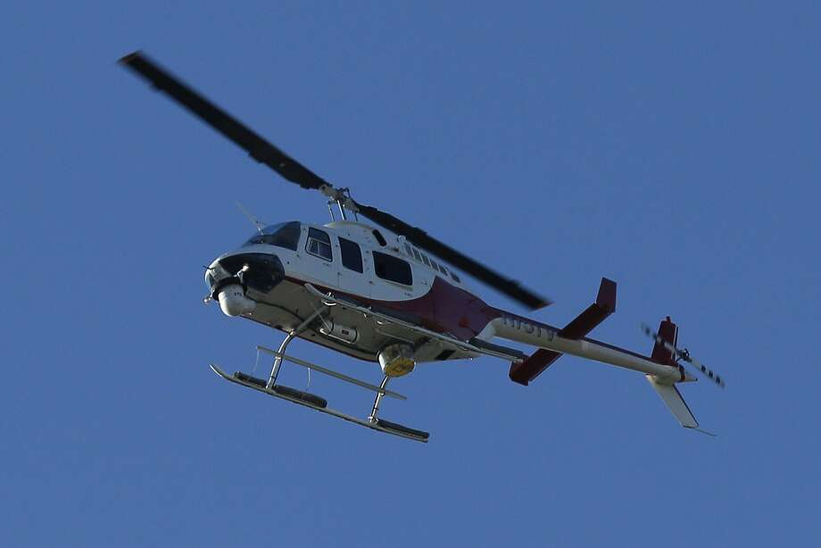 Contra Costa County has put a police helicopter like this up for sale. Photo: Santiago Mejia, The Chronicle