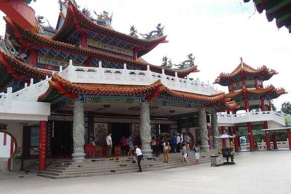 The Thean Hou Temple in Kuala Lumpur, a popular spot for tourists and locals that includes elements of Buddhism, Taoism and Confucianism.