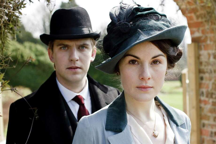 """This photo provided by courtesy of MASTERPIECE shows, Dan Stevens, left, as Matthew Crawley, and Michelle Dockery as Lady Mary Crawley, in season 6 of the television series, """"Downton Abbey."""" While announcing on Thursday, March 26, 2015, that next season's """"Downton Abbey"""" will be its last, executive producer Gareth Neame declined to say who among the Crawley clan and staff will survive until the series' final fade-out. (AP Photo/Courtesy MASTERPIECE) ORG XMIT: CAET207 / Courtesy MASTERPIECE"""