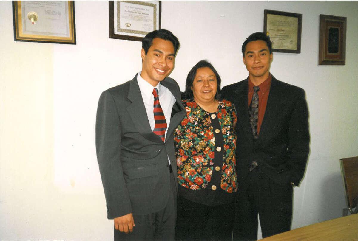 For Rosie Castro Story, Photo of Julian, Rosie and Joaquin Castro. Courtesy/Rosie Castro