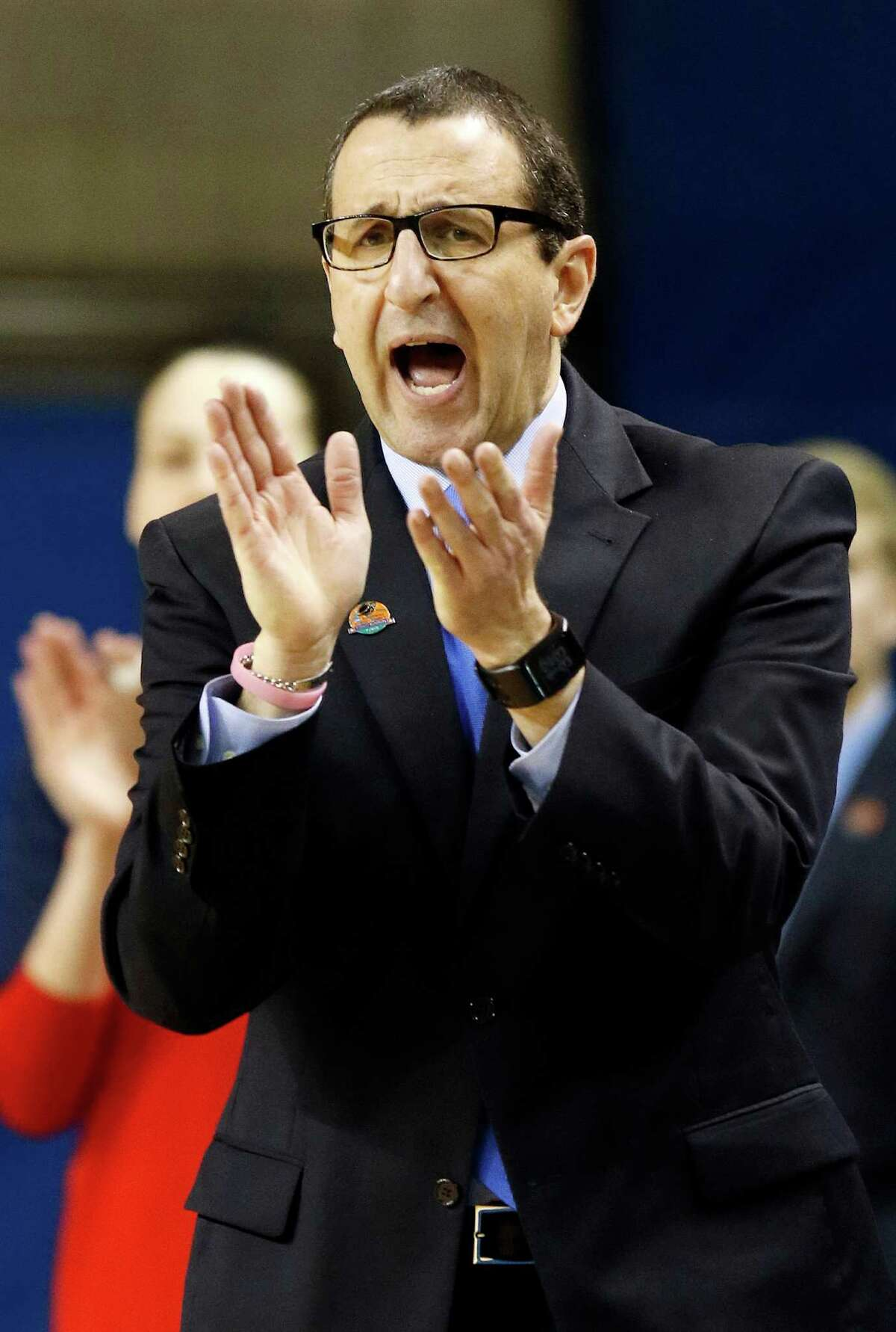 Former Dayton coach Jim Jabir is returning to Siena after coaching there from 1987-90.(AP Photo/James Crisp) ORG XMIT: KYJC124