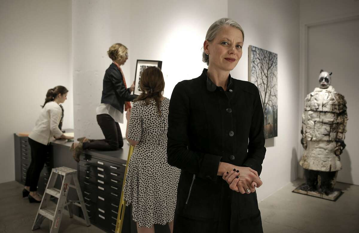 Gallery owner Catharine Clark in San Francisco, Calif., on Thurs. Mar. 26, 2015. Clark is the main force behind DoReMi, a new arts district that includes parts of the Mission, Potrero Hill and Dogpatch.