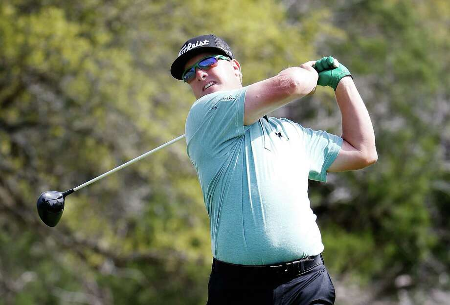 Charley Hoffman tees off on the eighth hole during the first round of the Texas Open at the TPC San Antonio Oaks Course on Thursday. Photo: Christian Petersen / Getty Images / 2015 Getty Images