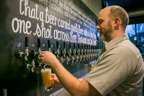 """Hog's Apothecary, Oakland  """"30-tap rotation of some California's best beers, exclusive selections, plus a Charcuterie-centric menu that includes brunch.""""  — Lessley Anderson"""
