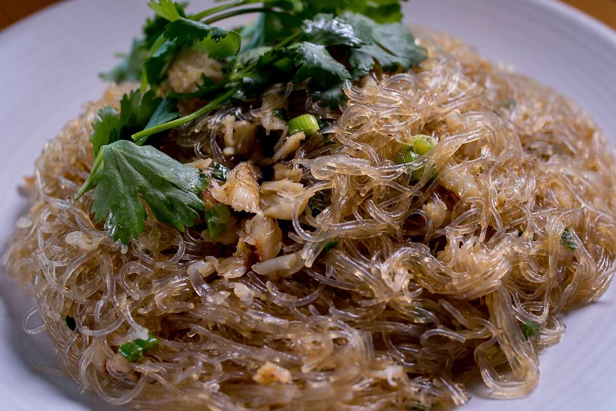 Cellophane noodles with crab at the Slanted Door in San Francisco, Calif., is seen on March 26th, 2015.