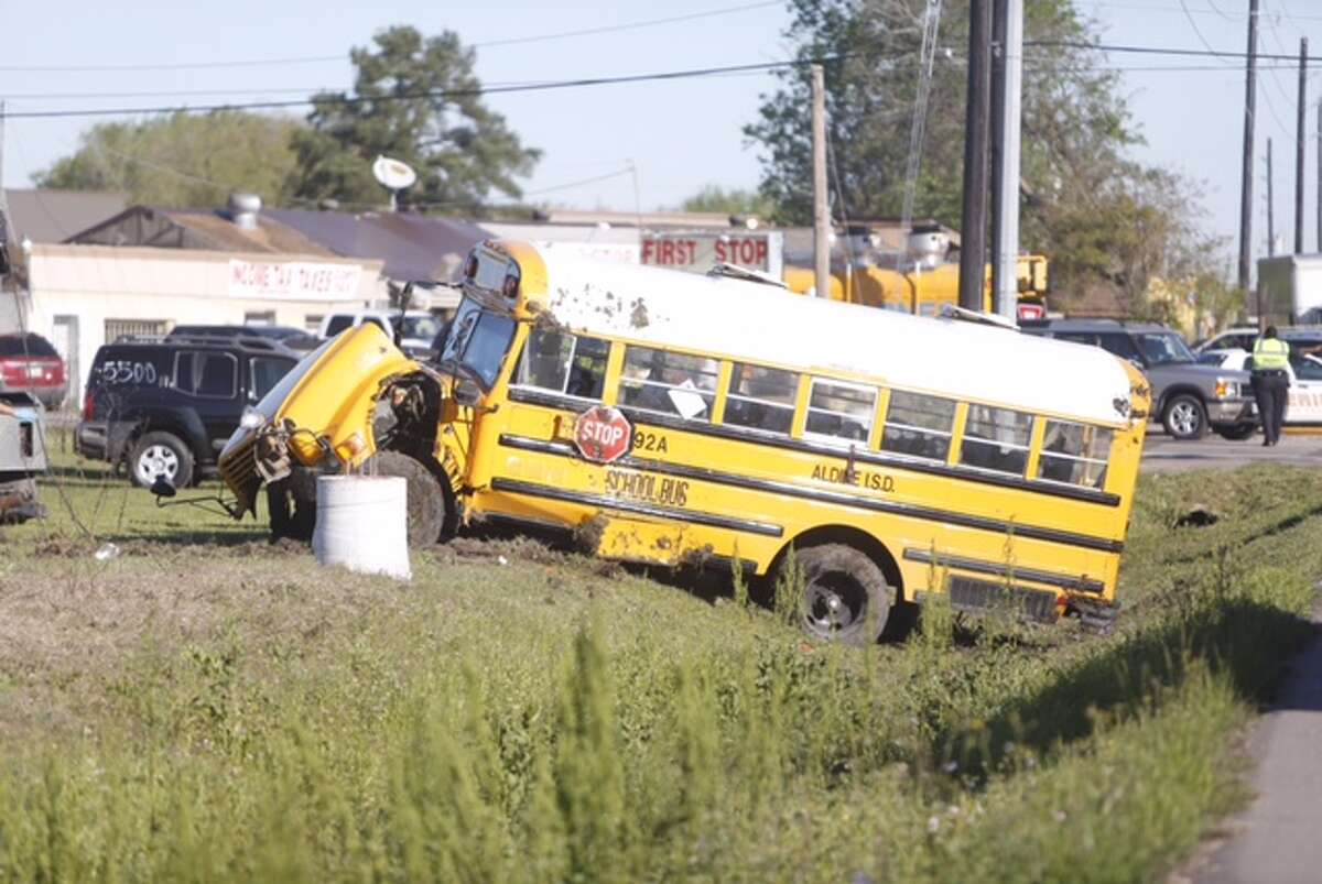 A school bus has been in involved in an accident on Veterans Memorial Drive and Frick Road, the Harris County Sheriff's Office confirmed. The accident, which left the bus on its side, happened at 8:27 a.m. Friday.