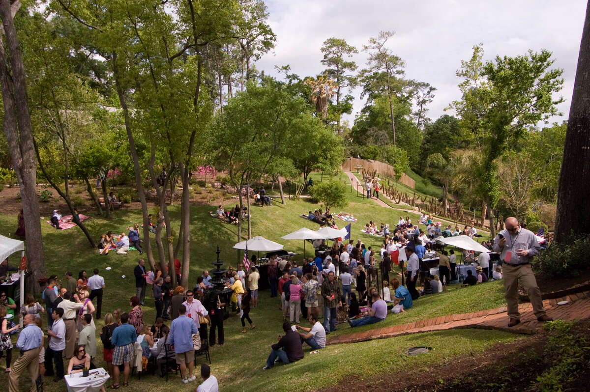 Brenner's Wine Fest spills onto the back lawn of Brenner's on the Bayou.