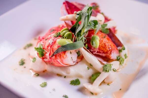 Roast Maine Lobster with Potato Puree at Restaurant Gary Danko in  San Francisco, Calif., is seen on March 26th , 2015.