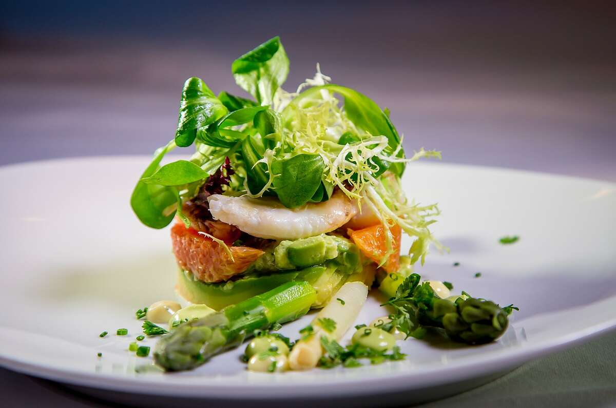 The Dungeness Crab salad at Restaurant Gary Danko in San Francisco, Calif., is seen on March 26th , 2015.
