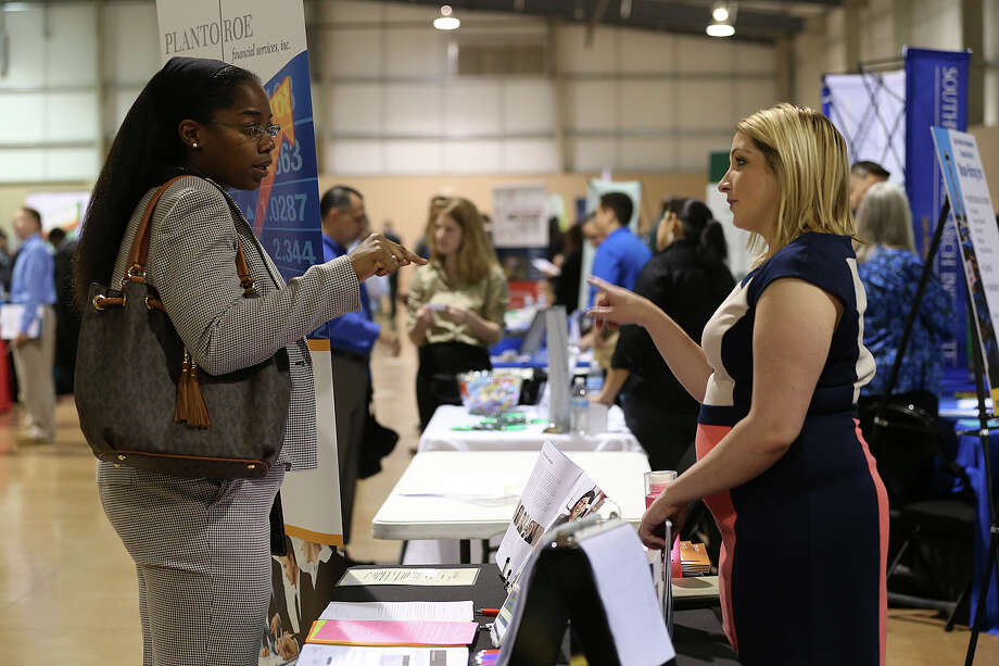 The Hiring Red White and You Veterans Job and Information Fair, similar to this veterans hiring fair in March, will take place Thursday at the Alamodome. Photo: Jerry Lara /San Antonio Express-News / © 2015 San Antonio Express-News
