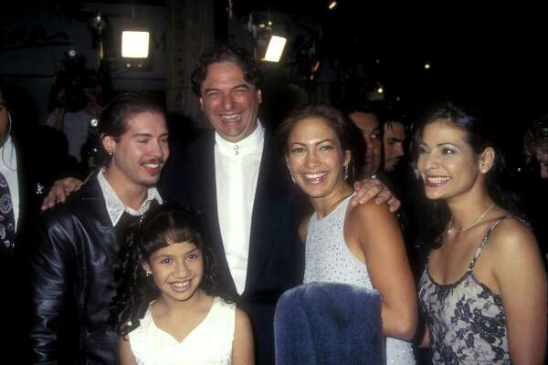 Jon Seda, Becky Lee Meza, Gregory Nava, Jennifer Lopez and Constance Marie (Photo by Albert L. Ortega/WireImage)