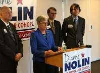 Cohoes Councilwoman Dianne Nolin announced she is running for mayor in City Hall on Friday, March 27, 2015. (Kenneth C. Crowe II)