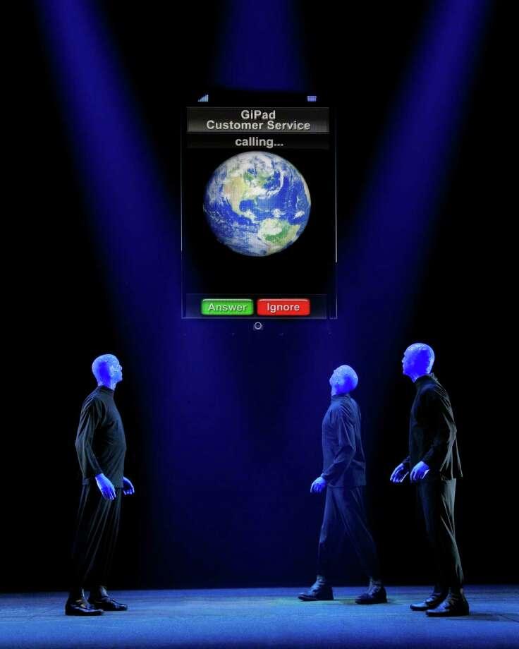 Blue Man Group is returning to the Majestic Theatre. Blue Man Group National Tour Credit photo: ©Paul Kolnik paul@paulkolnik.com nyc  212-362-7778 Photo: Courtesy Paul Kolnik / Courtesy Paul Kolnik / © 2010 Paul Kolnik