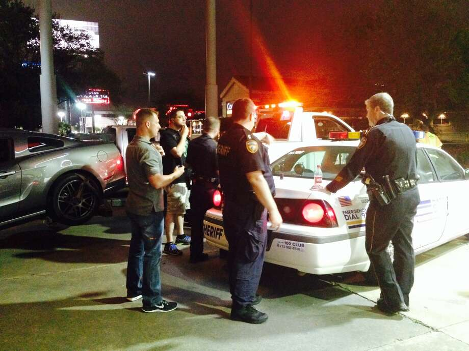 A Friday night street racing initiative by Harris County Sheriff's Office deputies resulted in the arrest of eight individuals; additionally, 13 traffic citations were  issued for various other violations. Photo: Harris County Sheriff